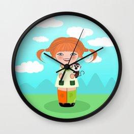 Kokeshi Pippi Wall Clock