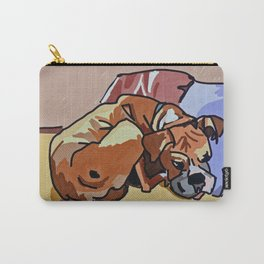 Abby Rests Boxer Dog Portrait Carry-All Pouch