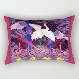 A Beast in human clothing - Chinese civil official uniform pattern -  Nightclub Animals Rectangular Pillow