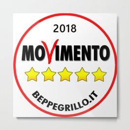 Five Star Movement Original Logo (2018) Metal Print