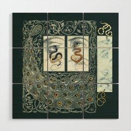 Snake Eyes :: Fine Art Collage Wood Wall Art