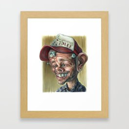 Jesse Smith Caricature Framed Art Print