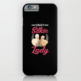 Crazy Silkie Lady iPhone Case