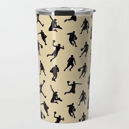 Basketball Players // Tan Travel Mug