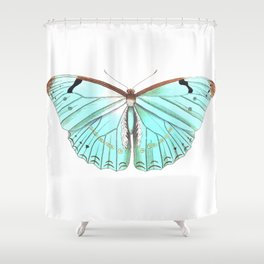 Butterfly Flutter By Shower Curtain