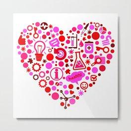 Biotech Heart Metal Print