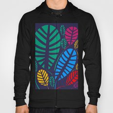 Jungle Night Pattern Floral Decoration Hoody