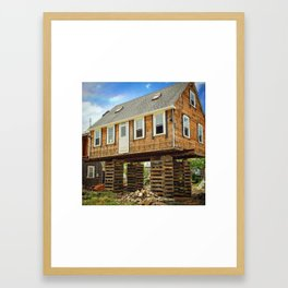 Jenga House Framed Art Print