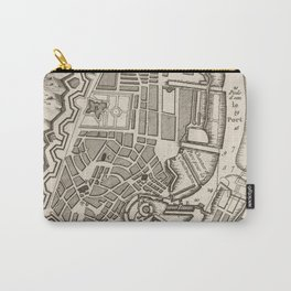 Vintage Map of Copenhagen Denmark (1764) Carry-All Pouch