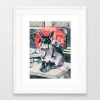 pixar Framed Art Prints featuring Time Traveller by Ali GULEC