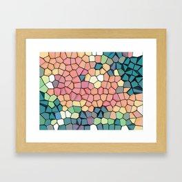 Colored Stone Blocks Pattern Framed Art Print