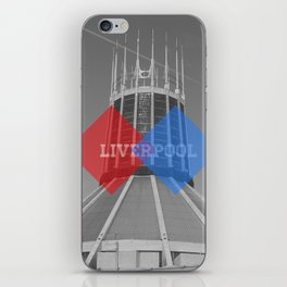 Liverpool - Red vs Blue iPhone Skin