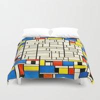 mondrian Duvet Covers featuring Mondrian by PureVintageLove