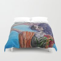 mirror Duvet Covers featuring Mirror by Katy Dai