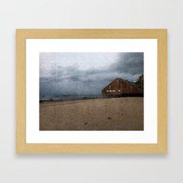 Malibu Ocean Storm Framed Art Print