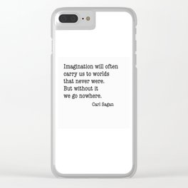Carl Sagan imagination Clear iPhone Case