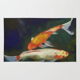 Feng Shui Koi Fish Rug