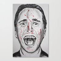 american psycho Canvas Prints featuring American Psycho by Haley Erin