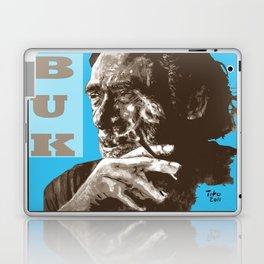 Charles BUKowski - POP-ART - sepia blue Laptop & iPad Skin