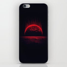 Lost Home! Colosal Future Sci-Fi Deep Space Scene in diabolic Red iPhone Skin
