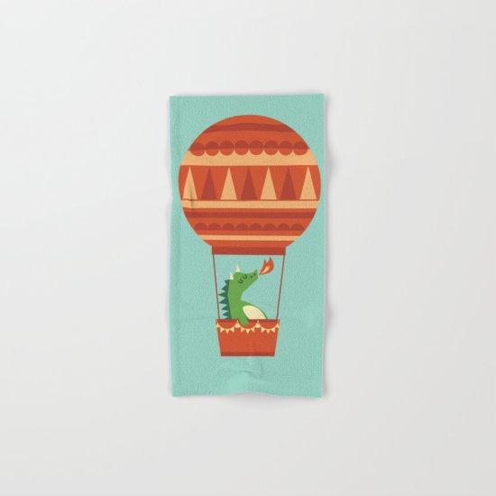 Dragon On Hot Air Balloon Hand & Bath Towel