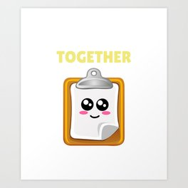 I'm Just Trying To Hold It Together Funny Clipboard Pun Art Print