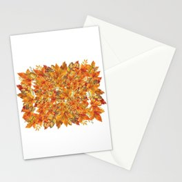 Autumn leaves - Acorn, clubs - Pine cones Stationery Cards