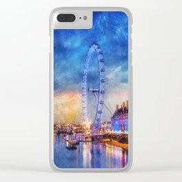 London Eye Clear iPhone Case