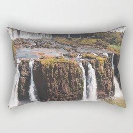 Iguazu Falls Travel Artwork. Rectangular Pillow