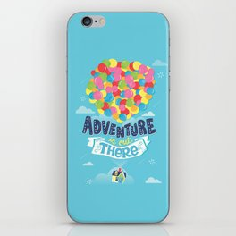 Adventure is out there iPhone Skin