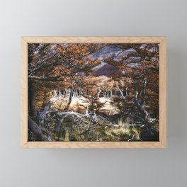 Fall in Patagonia, Argentina Framed Mini Art Print