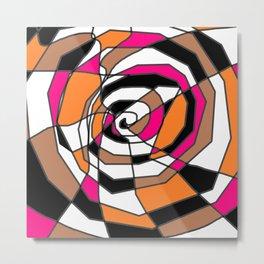 Scribble Art - A Spiral Mess Metal Print