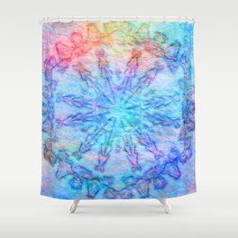 Felted tribal kaleidoscope Shower Curtain