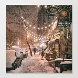 Snow - New York City - East Village Canvas Print