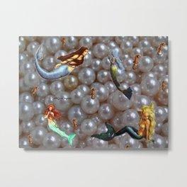 Sirenas y Perlas  Metal Print