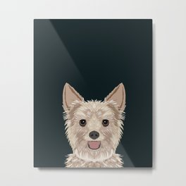 Tanner - Yorkshire Terrier gifts and gifts for dog person and dog people gift ideas Metal Print