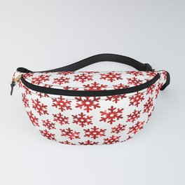 Watercolor Snowflakes (Red) Fanny Pack