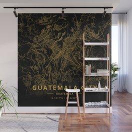 Guatemala City, Guatemala - Gold Wall Mural