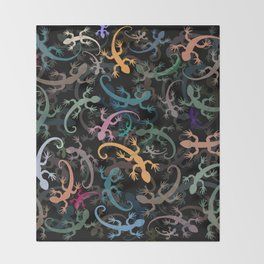 Leaping Lizards Throw Blanket