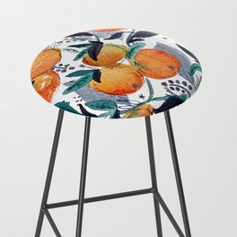 spring oranges Bar Stool