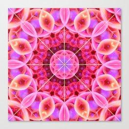 Pink and Violet Healing Mandala Canvas Print