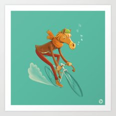 I want to ride my bicycle! Art Print