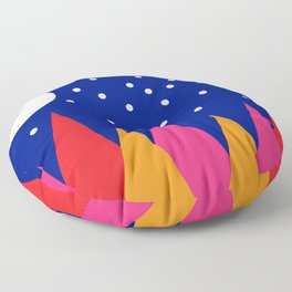 Moonlit Christmas Trees Floor Pillow
