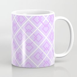 Electric Violet Interlock Pattern Coffee Mug