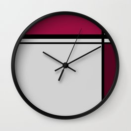 Cross Lines Deep Pink Wall Clock