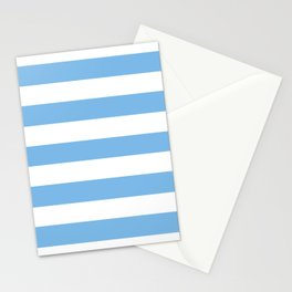 Aero - solid color - white stripes pattern Stationery Cards