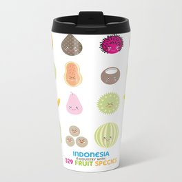 Indonesian Fruits Metal Travel Mug