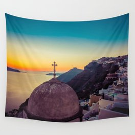 Adorable Santorini Wall Tapestry