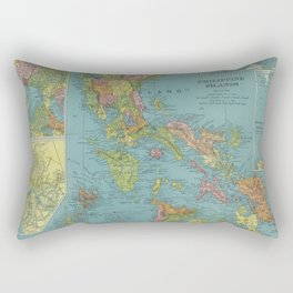 Vintage Map of The Phillipines (1903) Rectangular Pillow