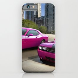 Limited Edition Fuchsia Panther Pink Challenger RT Classic Variation Models iPhone Case